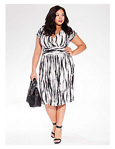 Gemma Dress in Black/Ivory by IGIGI