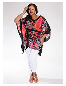 Kiki Tunic in Fuchsia Leopard by IGIGI