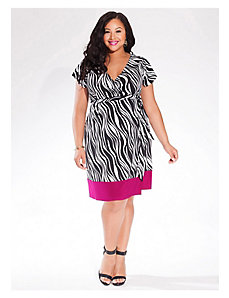 Geneva Wrap Dress in Zebra by IGIGI