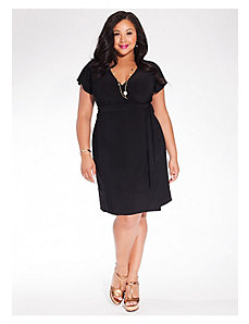 Geneva Wrap Dress in Black by IGIGI