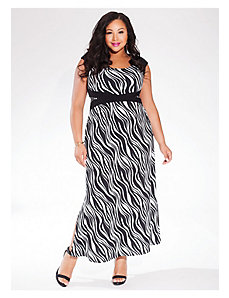 Maldives Maxi Dress in Black/White by IGIGI