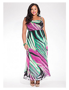 Rene Tube Maxi Dress in Rainforest Green by IGIGI