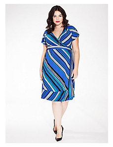 Geneva Wrap Dress in Ocean Wave by IGIGI