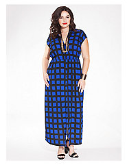 Emma Maxi Shirt Dress in Cobalt Beatnik