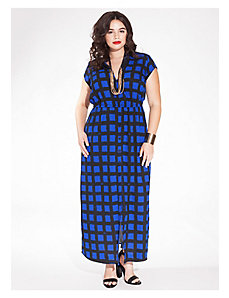 Emma Maxi Shirt Dress in Cobalt Beatnik by IGIGI
