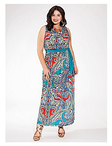 Seneca Maxi Dress in Teal Tango by IGIGI