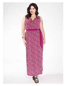 Seneca Maxi Dress in Fuchsia Flame by IGIGI