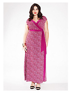 Naples Maxi Wrap Dress in Fuchsia Flame by IGIGI
