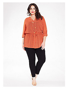 Nadia Shirt Tunic in Tangerine Day Dream by IGIGI
