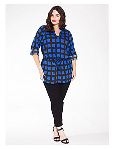 Nadia Shirt Tunic in Cobalt Beatnik by IGIGI