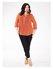 Livia Blouse in Tangerine Day Dream