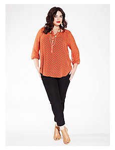 Livia Blouse in Tangerine Day Dream by IGIGI