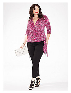 Lark Wrap Top in Fuchsia Flame by IGIGI