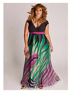 Rainforest Paradise Maxi Dress by IGIGI