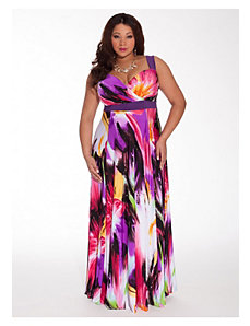 Tropical Beauty Maxi Dress with Shrug by IGIGI