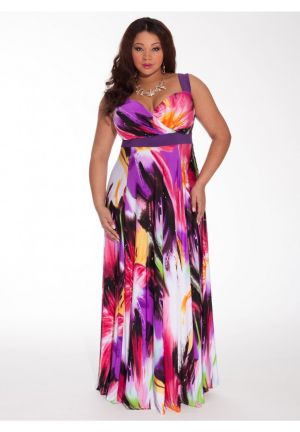 Tropical Beauty Maxi Dress with Shrug