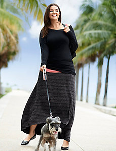 High-low maxi skirt