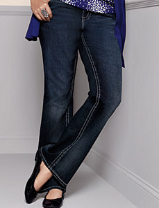 Embroidered bootcut jean by Lane Bryant