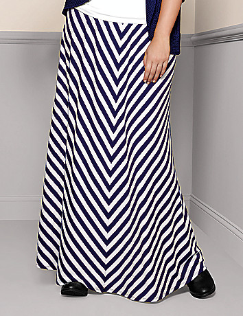 Full Figure Chevron Skirt by Lane Bryant