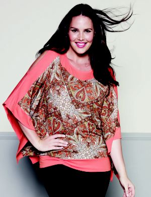 Split sleeve scarf print top