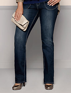Plus Embellished Slim Boot Jean by Lane Bryant