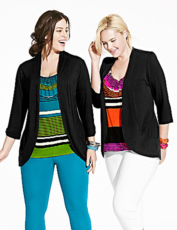 Layered look ruffled top by Lane Bryant