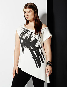 6th & Lane off shoulder graphic tee