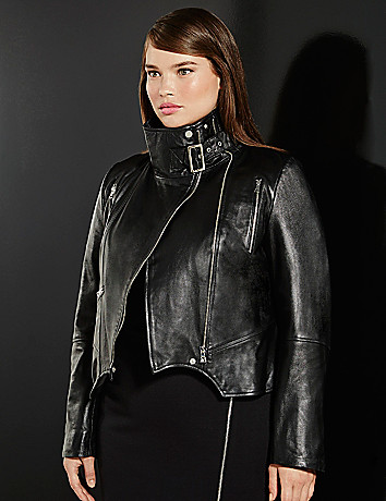 6th & Lane leather moto jacket