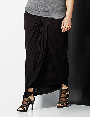 6th & Lane draped maxi skirt