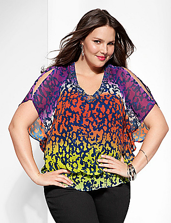Ombre animal drama top