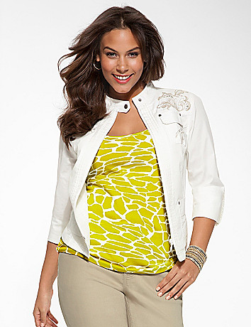 Plus Size Embellished Jacket by Lane Bryant