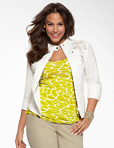 Embellished poplin jacket by Lane Bryant