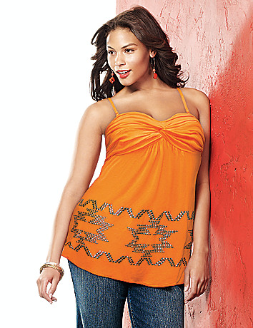 Twist front tube top by Lane Bryant
