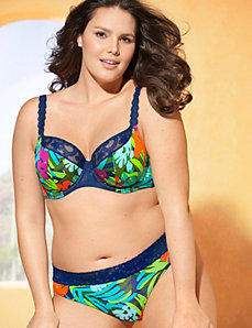 Embroidered French Full Coverage Bra Ensemble