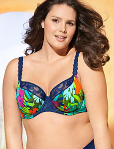 Embroidered French full coverage bra by Cacique