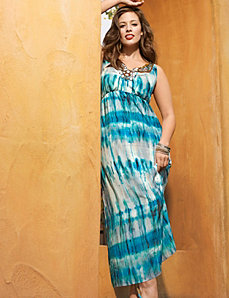 Jewel neck maxi dress