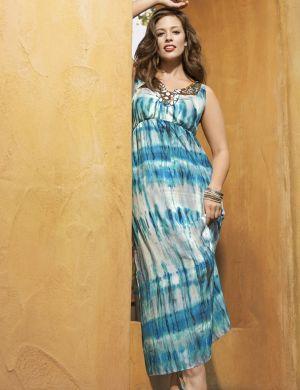 Jewel neck maxi dress