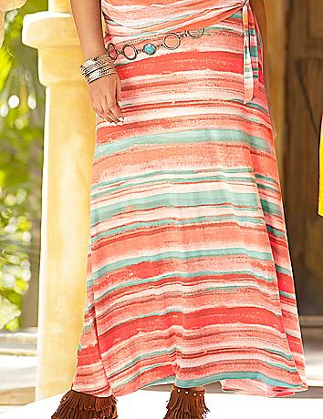 Santa Fe stripe maxi skirt