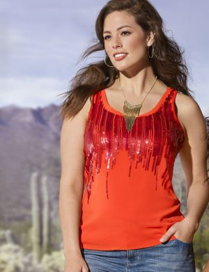 Ombre sequin tank