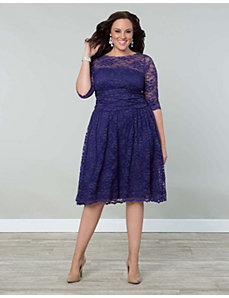 Scalloped Luna Lace Dress by Kiyonna