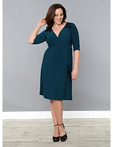 Julieanne Wrap Dress by Kiyonna