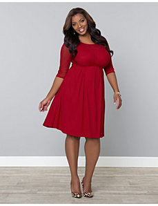 Morgan Mesh Dress by Kiyonna