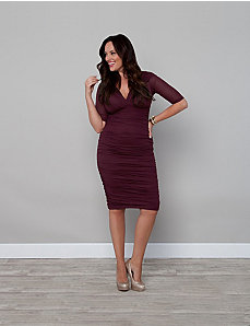 Betsey Ruched Dress by Kiyonna