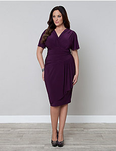 Danika Draped Dress by Kiyonna