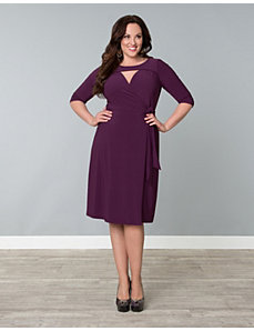 Lucia Wrap Dress by Kiyonna