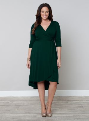 Winona Hi-Lo Wrap Dress