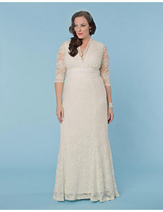 Amour Lace Wedding Gown by Kiyonna