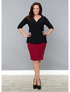 Curvy Pencil Skirt by Kiyonna