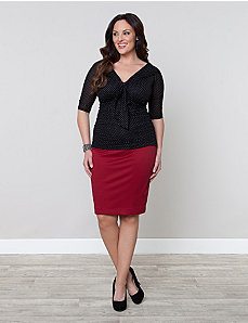 Priscilla Knit Pencil Skirt by Kiyonna