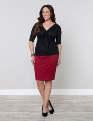 Priscilla Knit Pencil Skirt